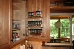 Kitchen- built in spice racks