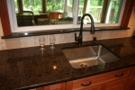Kitchen- stainless steel under mount sink