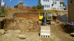 Because of the existing topography a significant amount of earthen material had to be excavated and removed offsite.