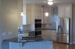 The kitchen for the home was custom built to accomodate the clients needs and wishes.