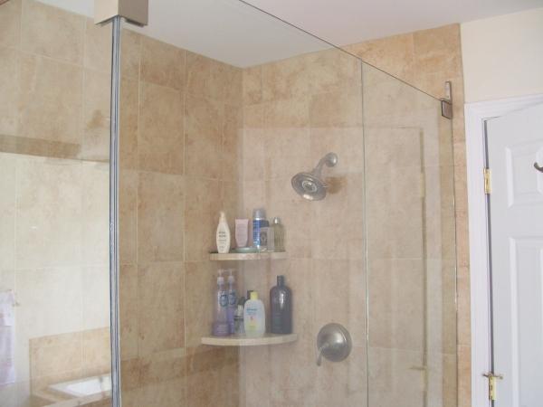 96 shower corner shelf marble marble subway tile for Marble bathroom shelf