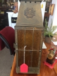3/16/17 Carriage Lantern with Amber Glass Texture  $200