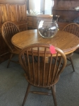 3/23/17 Round Table with Leaf and 3 Chairs $195