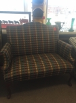 3/30/17 Plaid Love Seat $395