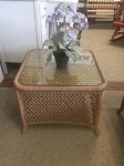 9/7/17 Rattan small coffee table included in full living room Rattan set for $595 17H x 21W x 21L