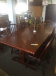 9/7/17 Dining Table w/2 leafs and 6 chairs $495 TABLE: 30H 38W 70L EACH LEAF: 15x38