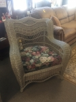 10/5/17 Wicker Chair (Includes Matching Couch and Ottoman) $395 33H x 32W x 34L