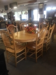 10/19/17 Dining Room Table w/Leaves + 6 Chairs $595
