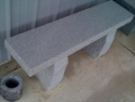 Salt and Pepper Straight bench