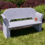 Salt and Pepper bench with arms, and a back