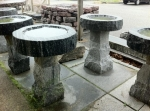 Liberty and Salt and Pepper 4 piece bird baths