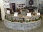 Our wall stone display