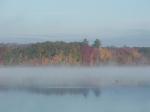 autumn mist over the lake