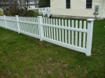 Thru-rail pvc picket fence