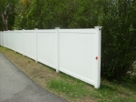 6' high privacy pvc