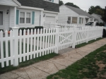 Nail-on style pvc picket fence