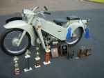 1971 Velocette LE with some of the trophies it has earned.