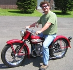 Pristine 1959 Harley Davidson 165 in rare Hi Fi Red