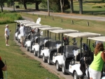 Carts line up to begin the tournament.