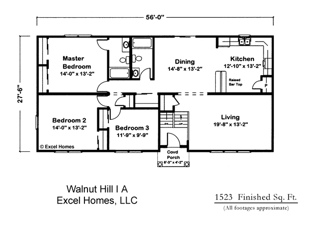 Ricon homes for Raised ranch floor plan