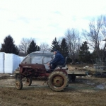 Rebuilt Farmall tractor, ready for spring.